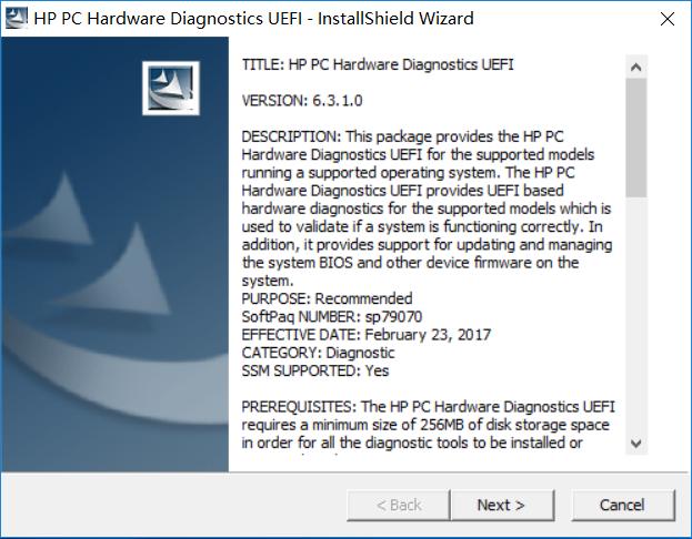 惠普硬件检测工具DST HP PC Hardware Diagnostics UEFI 6.8.0.0 Rev.A 使用方法
