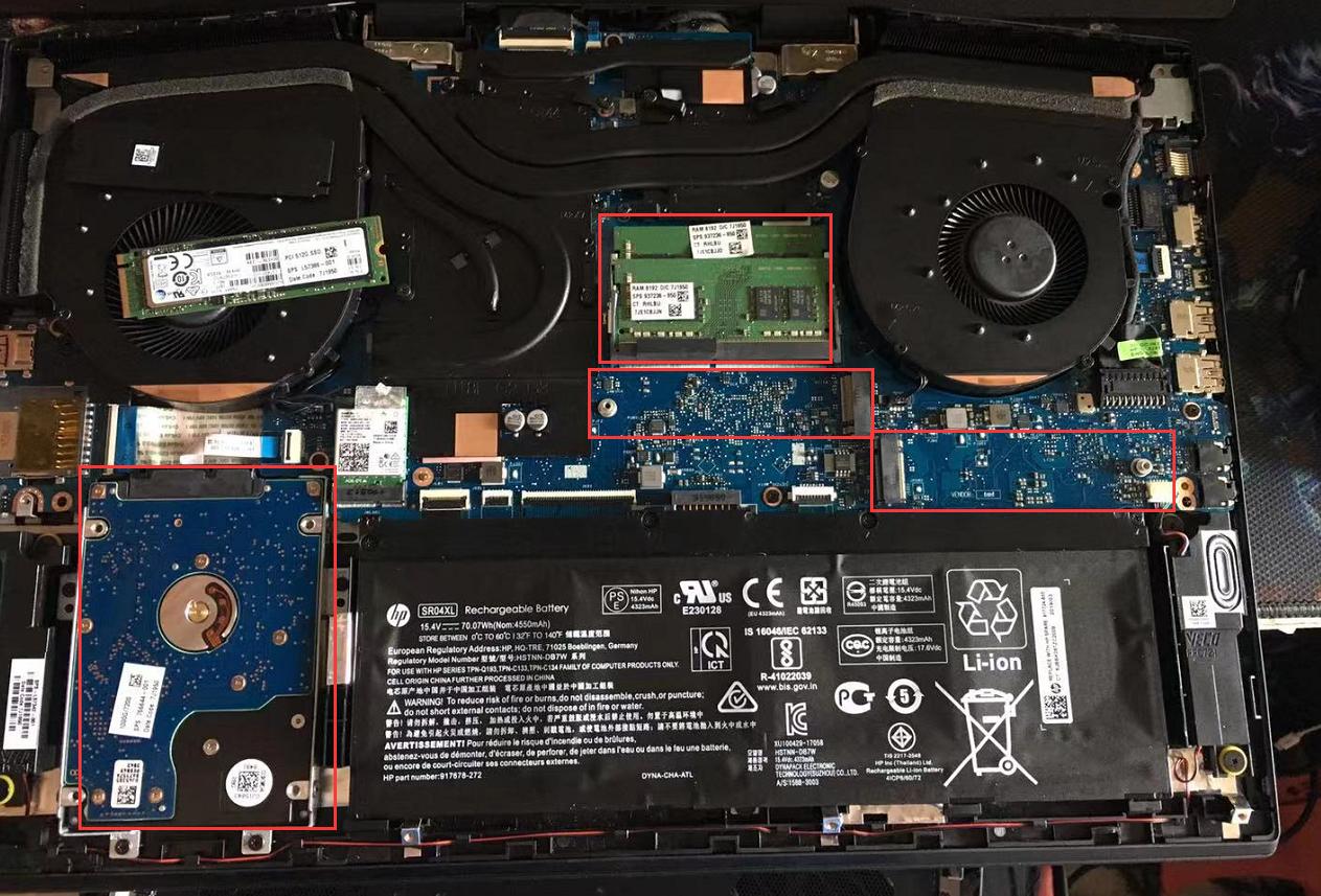 【视频】惠普 暗影精灵5 Plus 17.3 17-Cb0xxx 游戏本 拆机升级加装内存固态机械硬盘视频教程